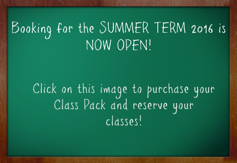 summer term booking is open